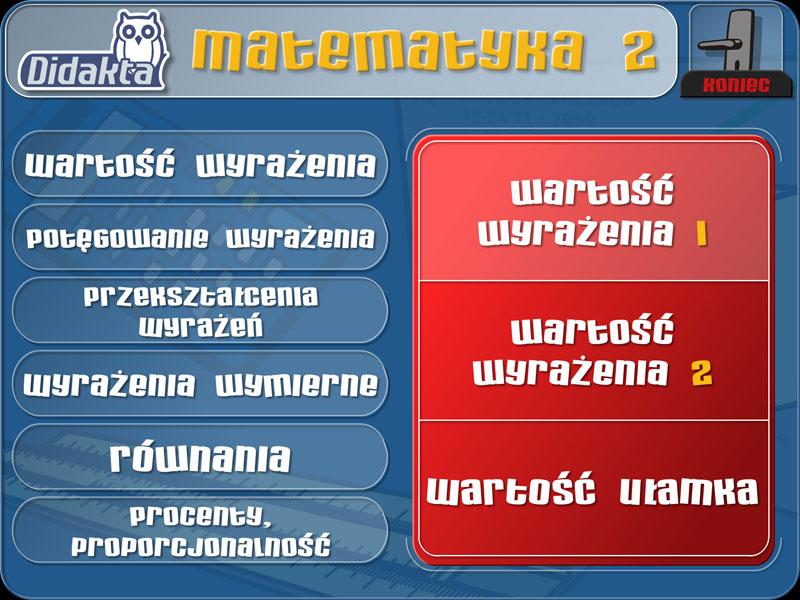 Didakta - Matematyka 2 - Algebra
